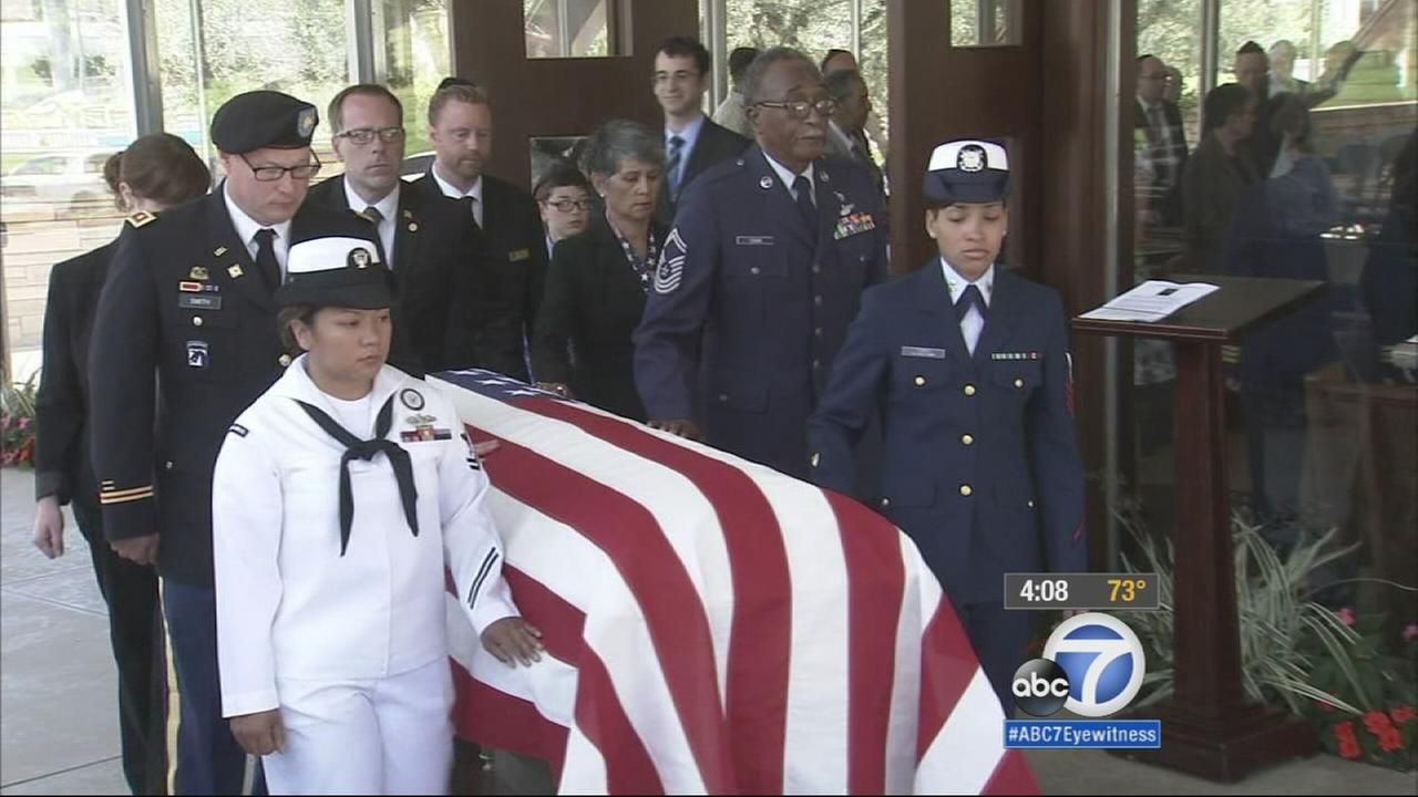 A final farewell was held Monday for Bea Cohen, who is believed to have been the oldest female veteran in California.