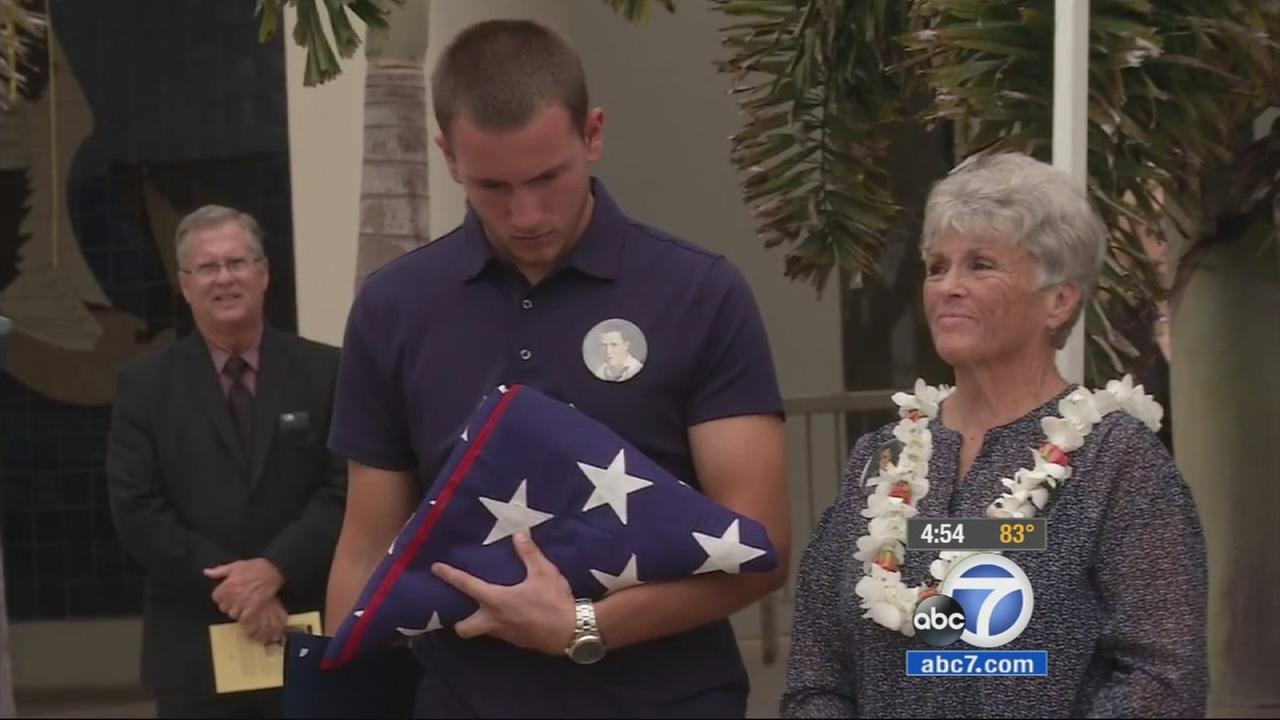 A Huntington Beach man killed on the USS Arizona in Pearl Harbor in 1941, whose name was left off a veterans memorial marker at city hall, finally got the recognition he deserved.