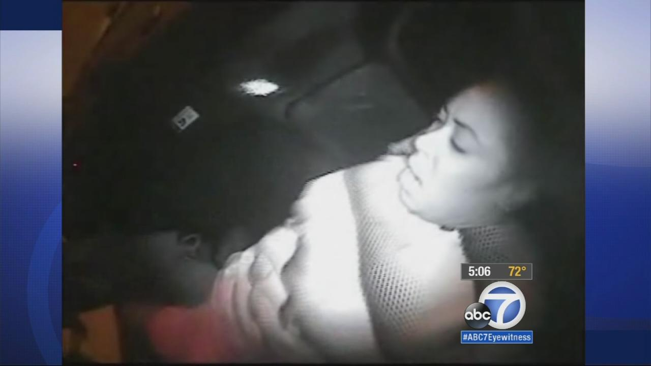 A patrol car video shows the entire assault of a woman who later died while in Los Angeles police custody in 2012.
