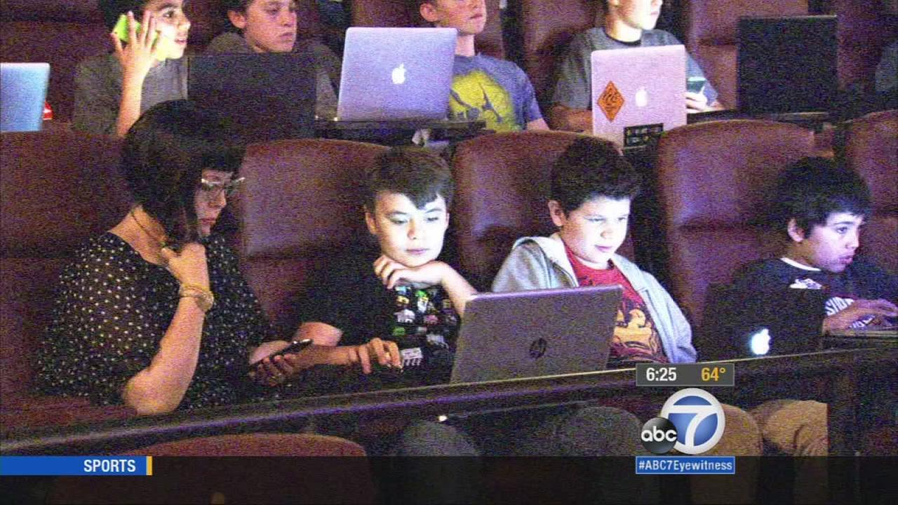 What do you get when you combine one hit video game, three major movie theater chains, and a whole bunch of kids with laptops? A new interactive gaming league.