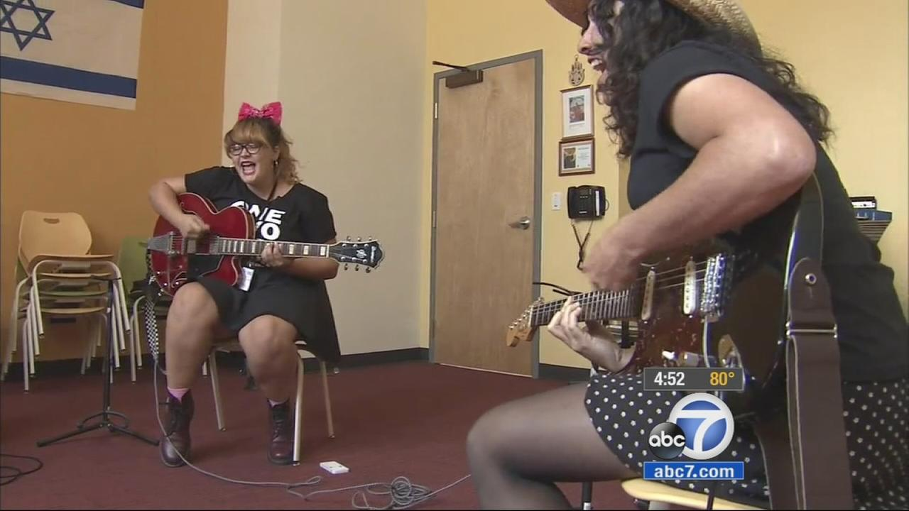 Young rockers are getting a chance to channel their inner Mick Jagger at a new youth camp in Long Beach.