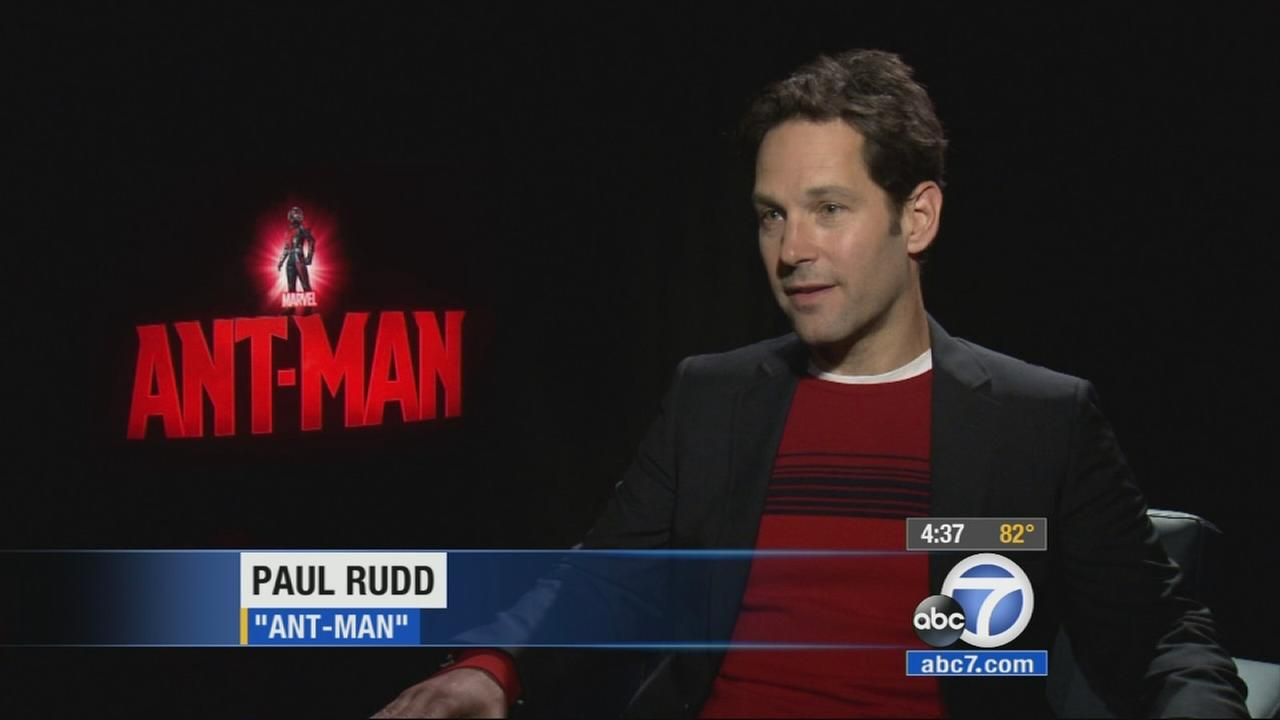 Marvels newest hero and his friends are taking over Hollywood Monday for the premiere of Ant-Man.