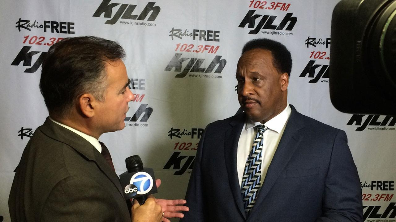 Inglewood Mayor James Butts talks to ABC7 on Wednesday, July 1, 2015.