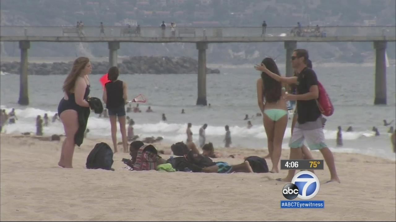 The Los Angeles County Fire Department Lifeguard Division is warning residents to be wary of gooey black lumps of tar washing ashore at Hermosa Beach and Surfrider Beach in Malibu.