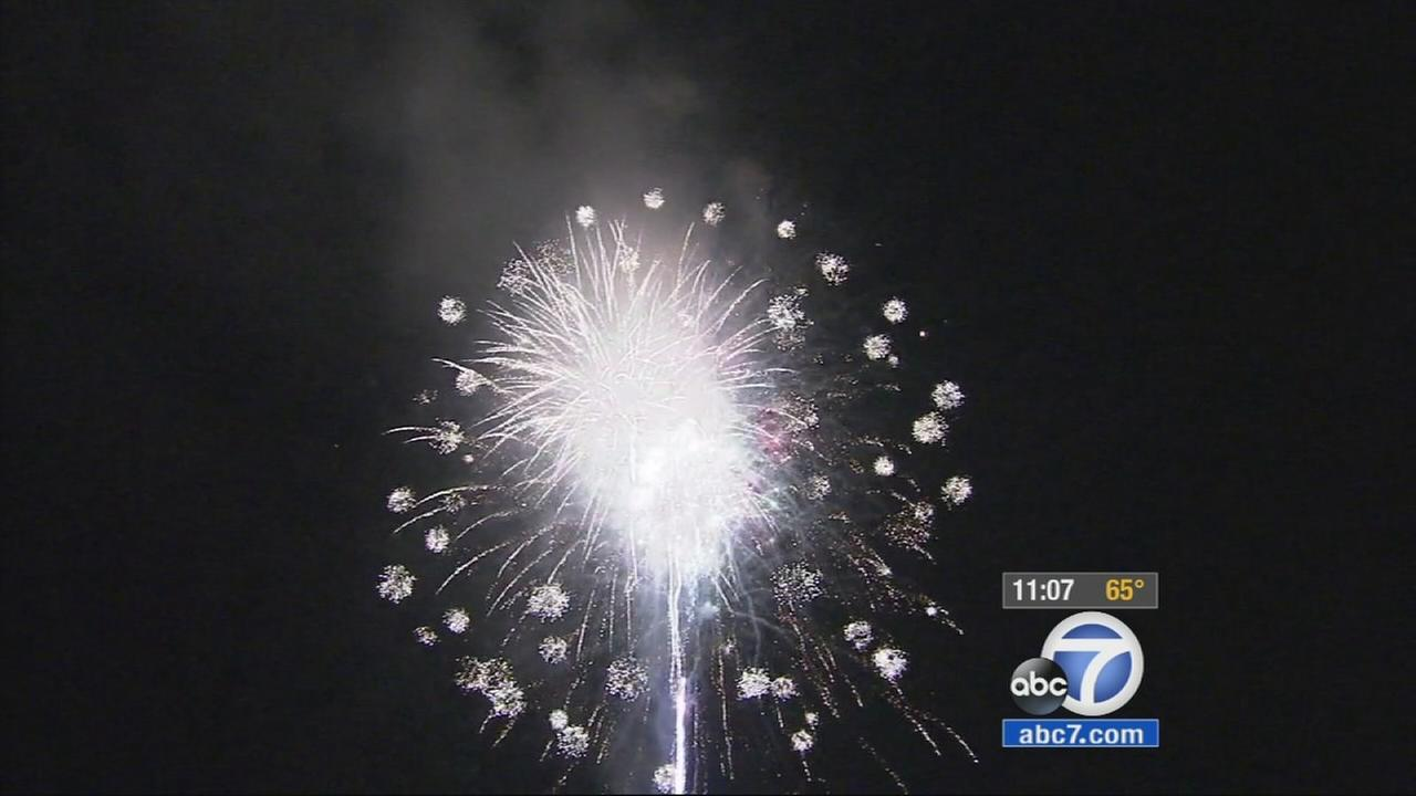 The Fourth of July festivities began early in Moorpark, as a huge fireworks lit up the sky Friday evening.