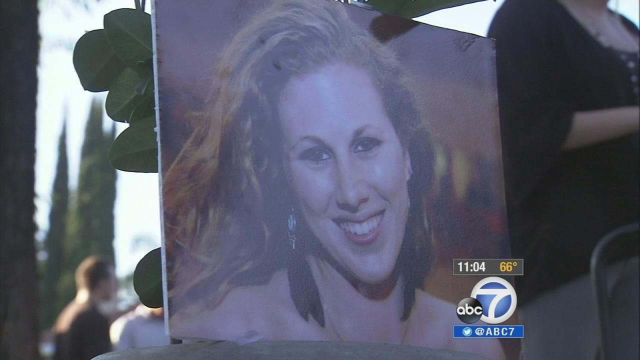 A photo of Katie Cooper is seen at a candlelight vigil in Chino Hills on Wednesday, May 28, 2014.