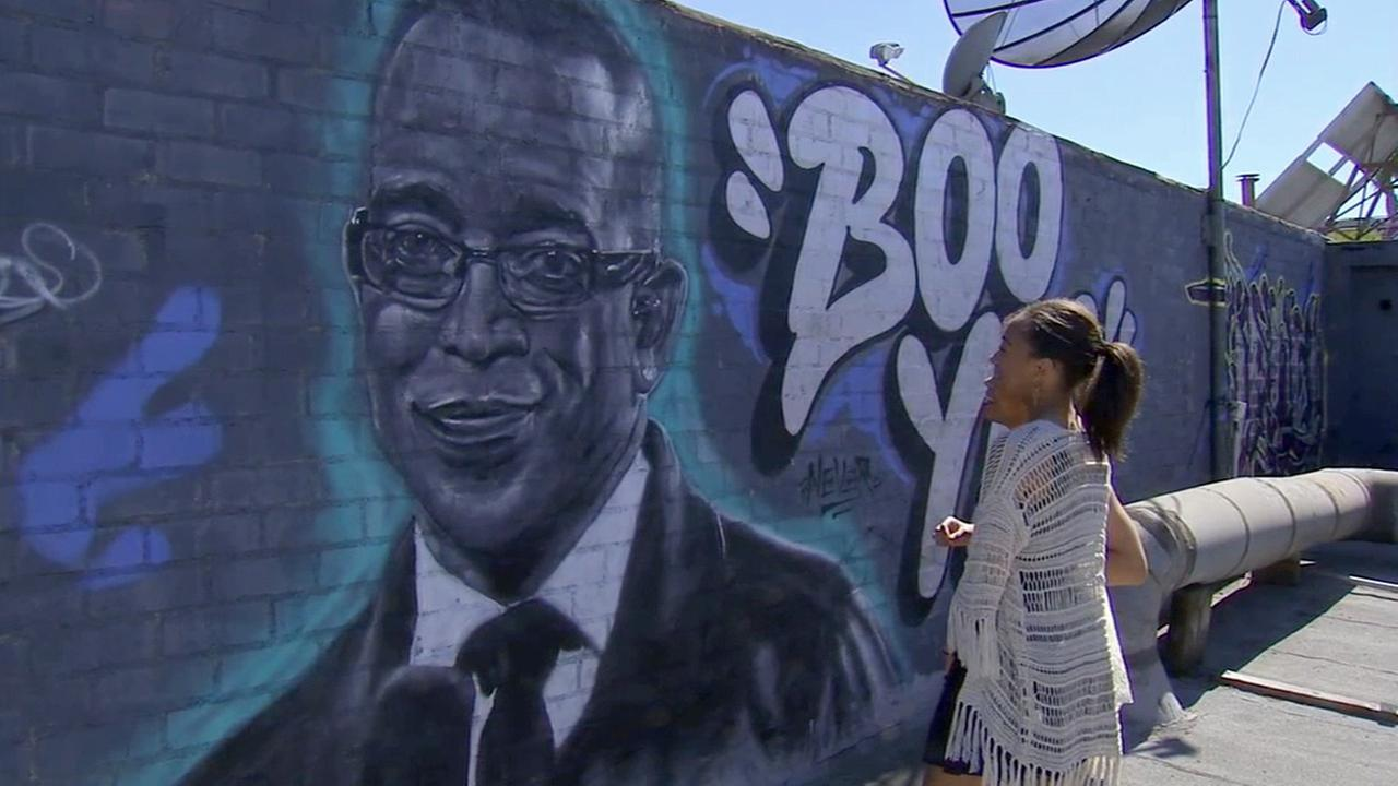 Stuart Scott may have lost his battle with cancer in January, but his memory lives on in a mural in Westchester.