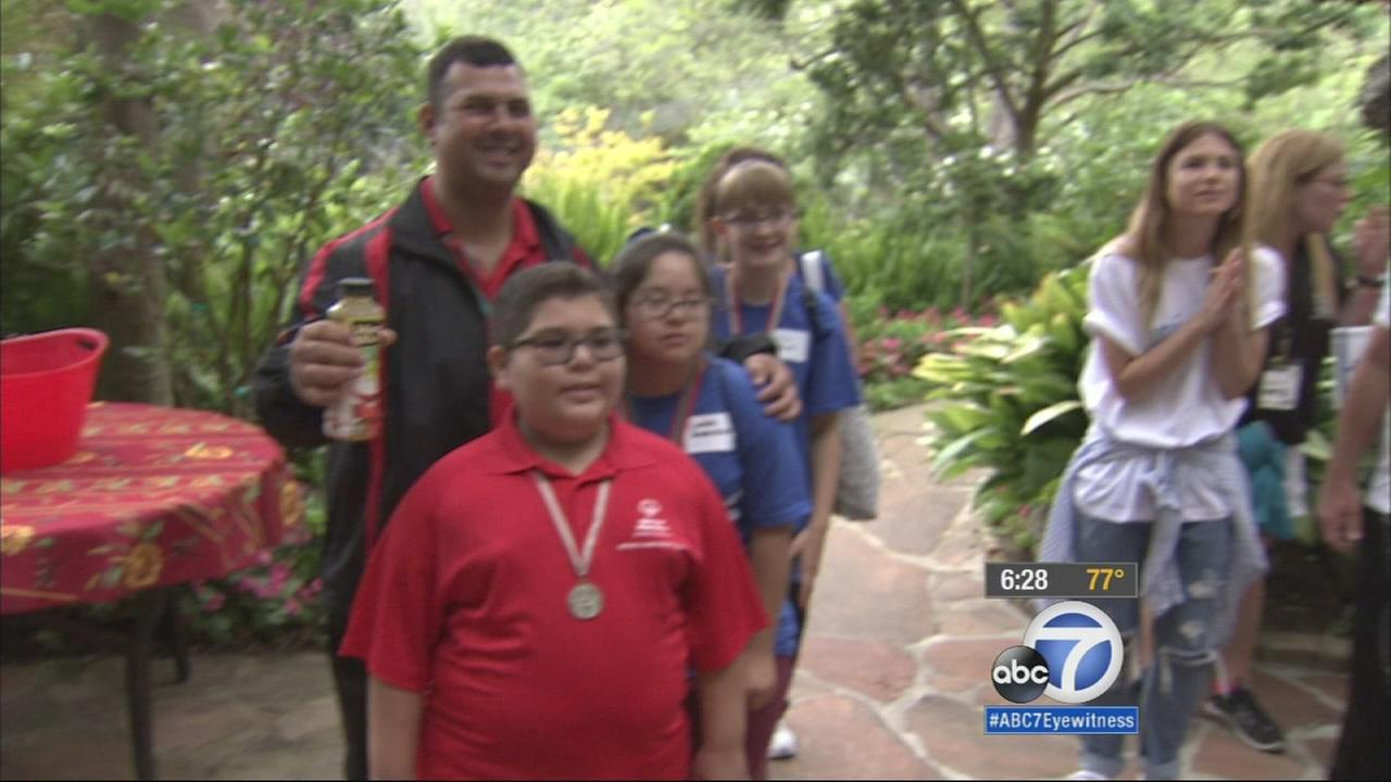 Forty Israeli Special Olympians participating in the Special Olympics World Games arrived Wednesday and were treated to a welcome party in Bel Air.