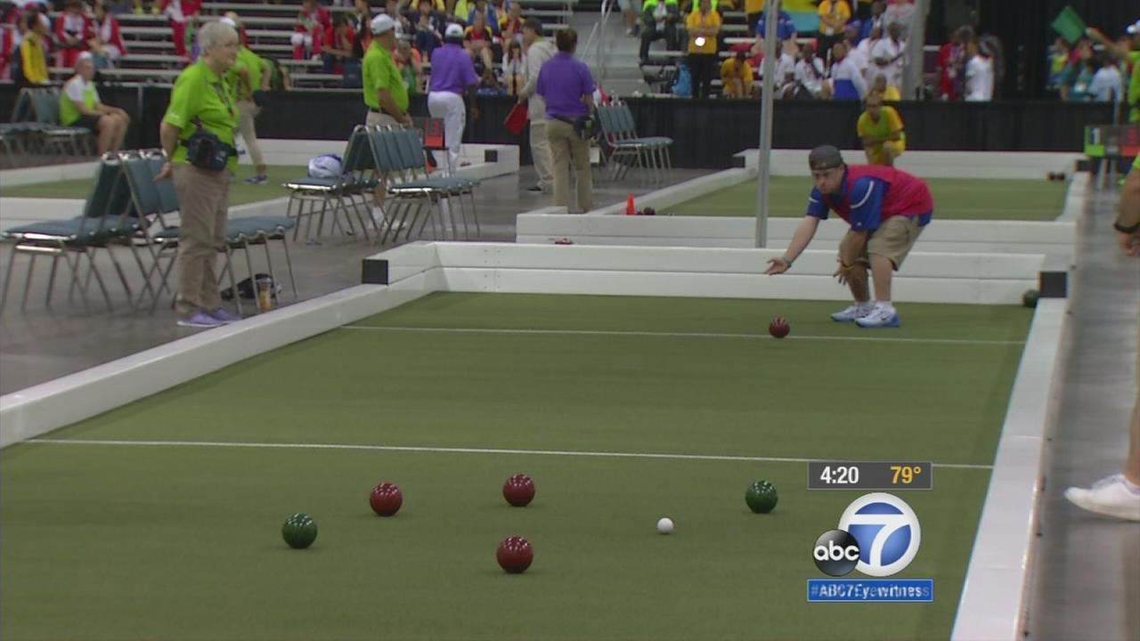 Team USA bocce ball player James Volpert finished with the most points at the end of 30 minutes of play in the Special Olympics World Games.