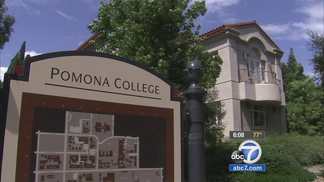 Pomona College is shown in this undated file photo.
