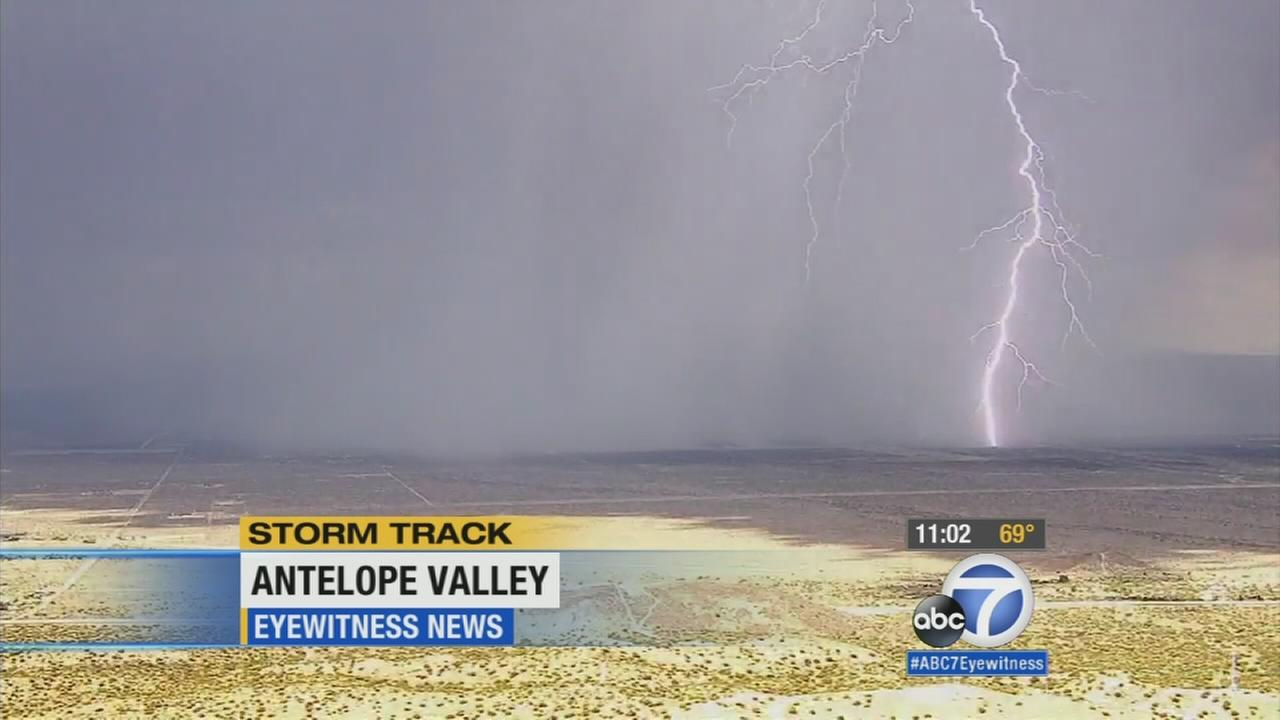 A severe weather system brought heavy rains, hail and lightning to the Inland Empire on Wednesday.