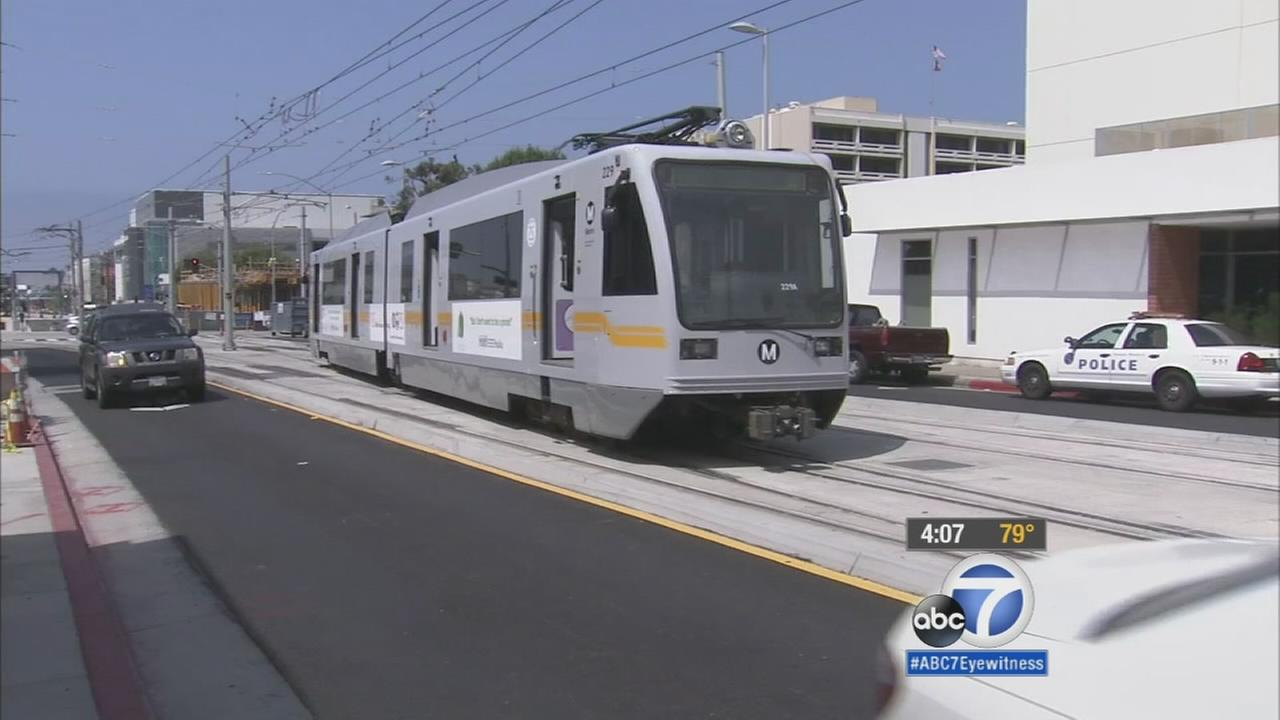 For the first time in decades, a commuter train rolled through Santa Monica on Friday, but you cant ride it just yet.