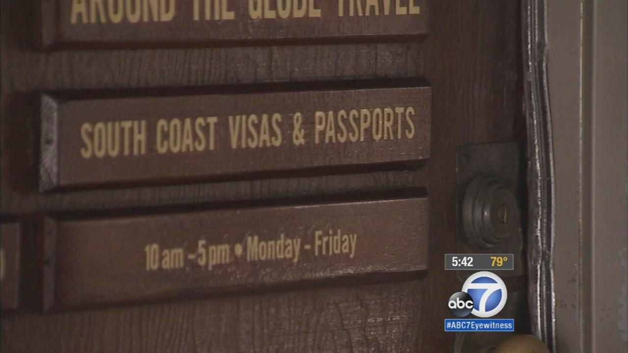 South Coast Visas and Passports lost client files and passports after suspects broke into the company overnight.