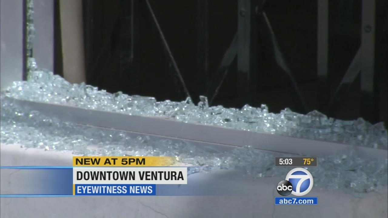 The owners of at least half a dozen shops in Ventura were left picking up the pieces Friday after vandals smashed their windows.