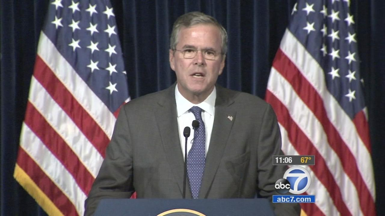 Republican presidential candidate Jeb Bush said Tuesday the U.S. may need to send more ground troops into Iraq to defeat Islamic State militants, but he stopped short of saying how many.