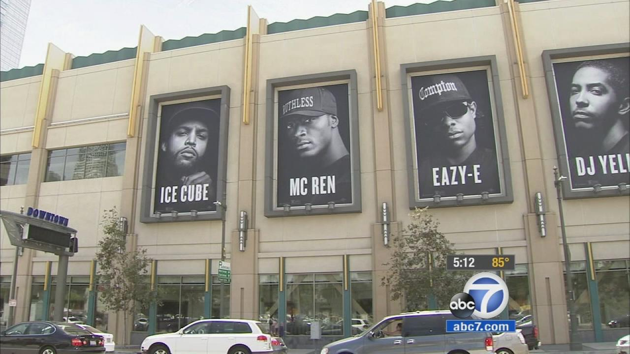 Los Angeles police worry the violence shown on the screen at theaters showing Straight Outta Compton will bleed into real life.