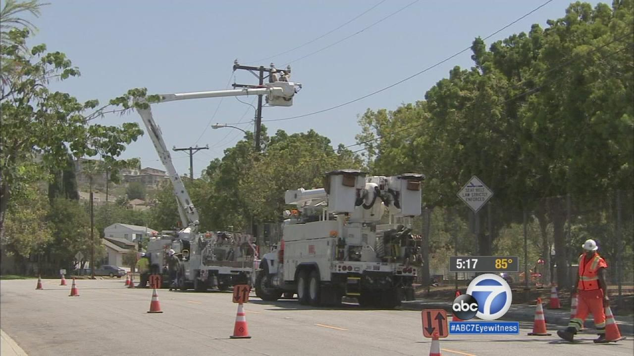 Residents in Signal Hill were forced to sweat it out Friday after the power went out.