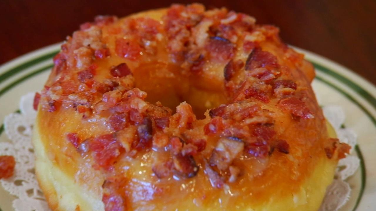 The maple bacon doughnut at Nickel Diner will satisfy both savory and sweet taste buds.
