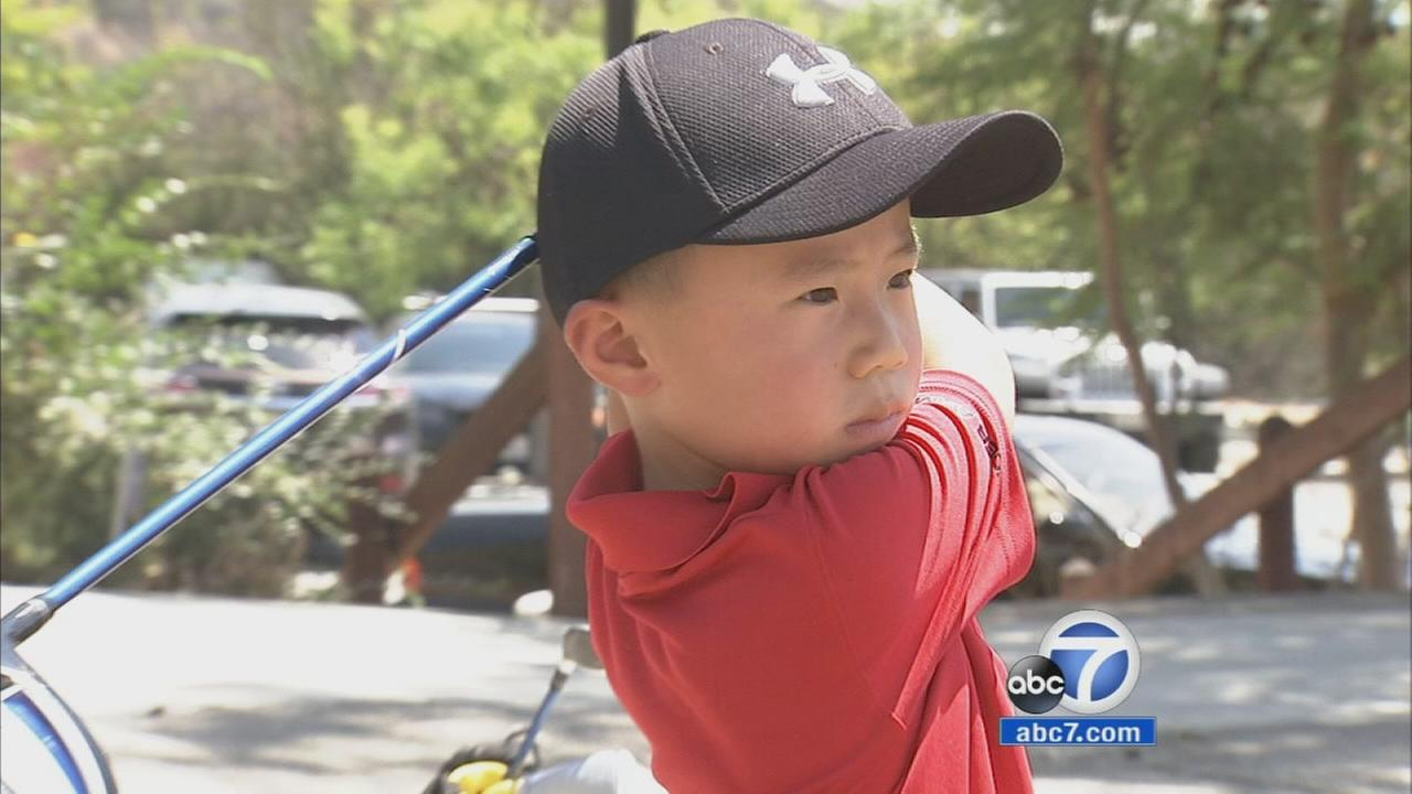 A 5-year-old golfer has already landed his first hole-in-one and his sweet swing is taking him to the top.