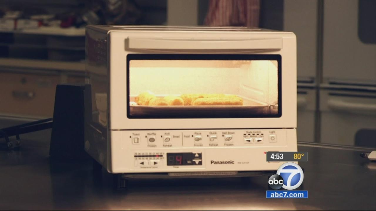 A small toaster oven is shown in a Consumer Reports segment.