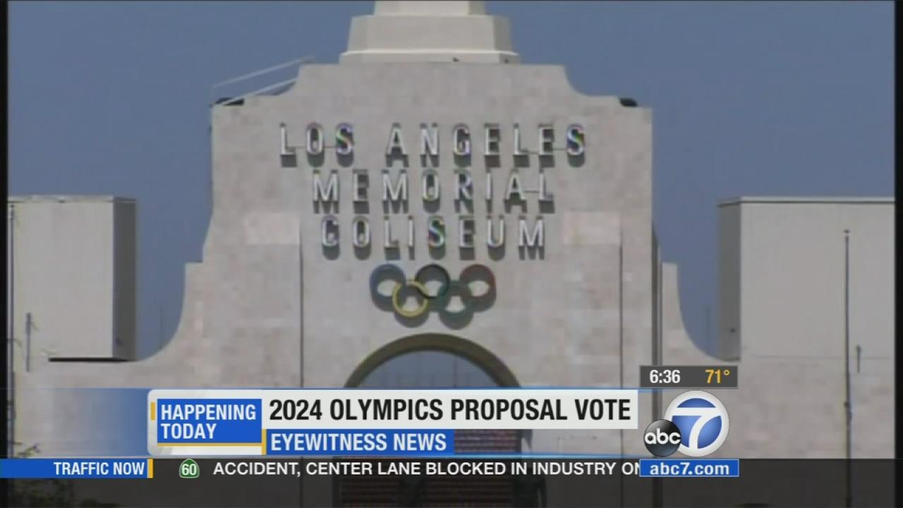 The City Council is scheduled to vote Tuesday on a proposal to authorize Mayor Eric Garcetti to execute agreements related to its 2024 Olympic bid.