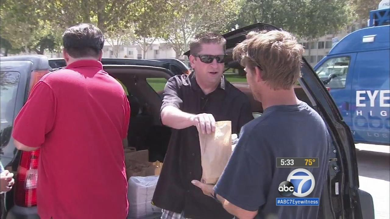 A man who knows firsthand about not having a place to live started Sack Lunches for the Homeless to help people in need in the city of San Bernardino