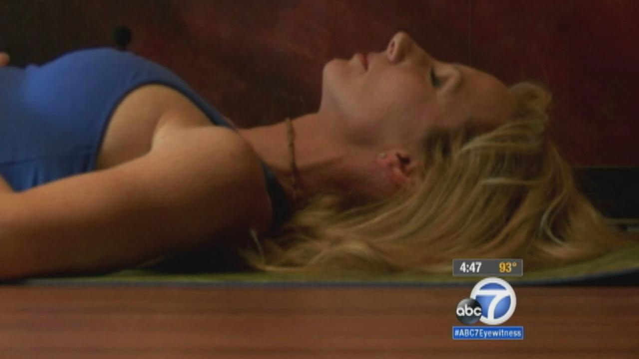 Getting to sleep a hardship for many Americans, but a handful of yoga movements might be the routine needed to get a good nights rest.