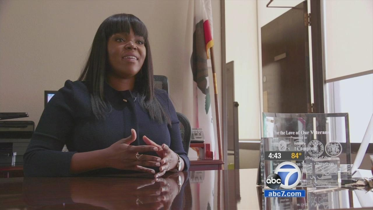 Compton Mayor Aja Brown is shown in an undated photo.