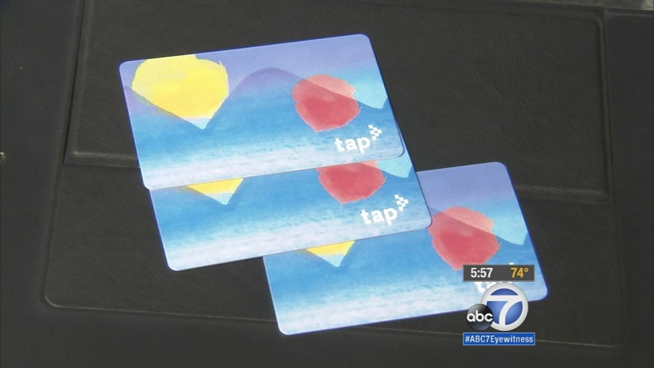Several TAP cards are shown in an undated photo.