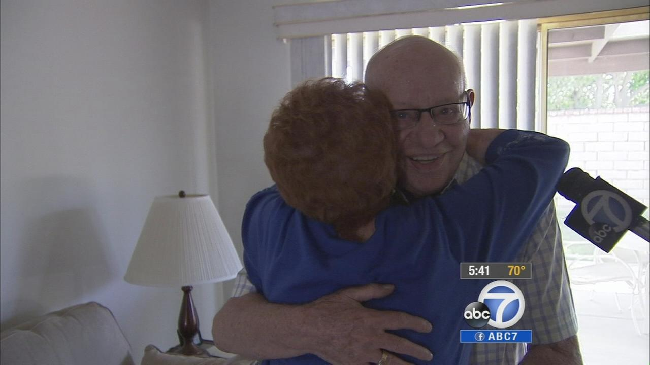 D-Day veteran John Schick got a big surprise from his friend, Vivian Teasley.