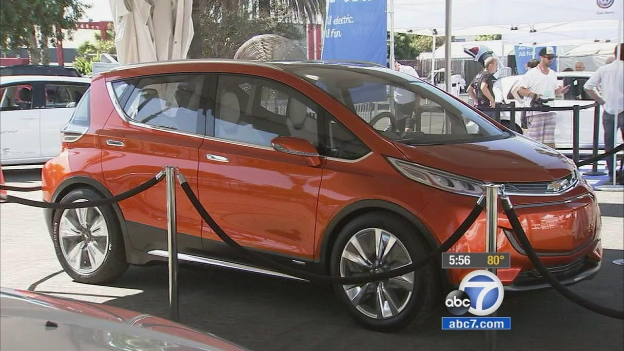 The new Chevrolet Bolt is shown at the AltCar Expo in Santa Monica.