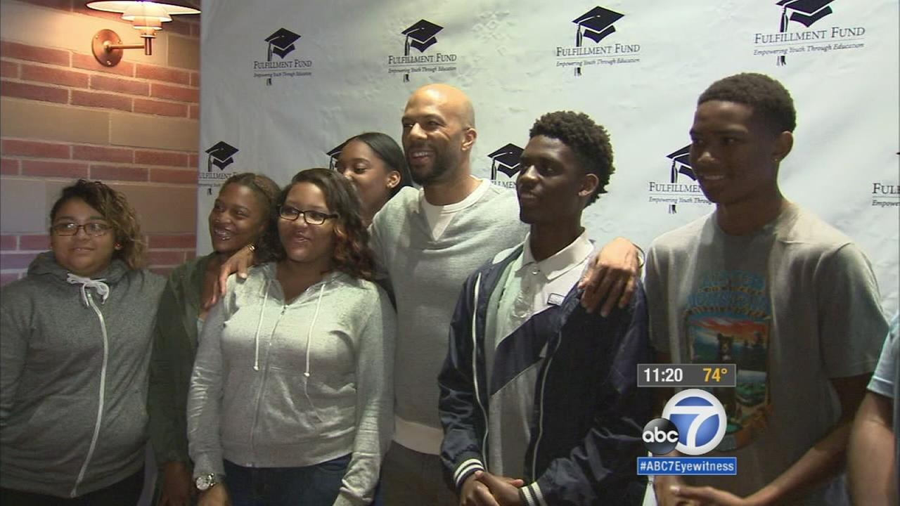 Rapper Common inspires students to attend college