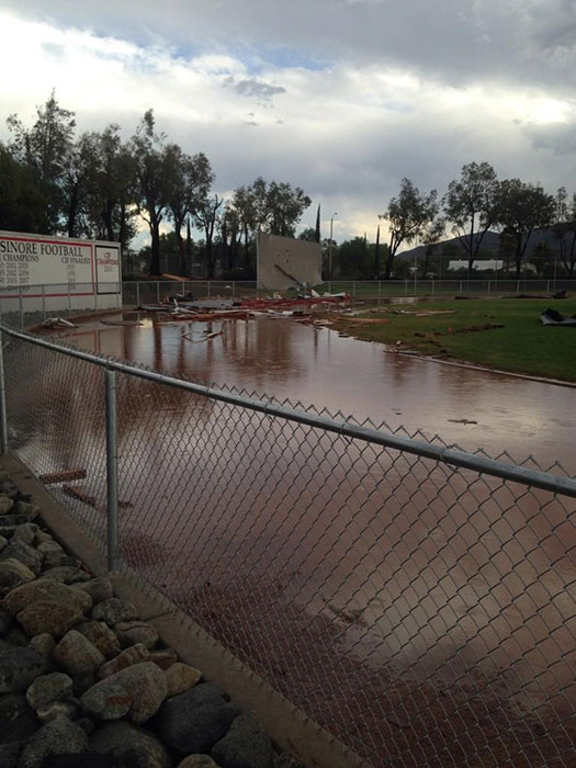 Elsinore High School In Wildomar Cleaning Up After Wild