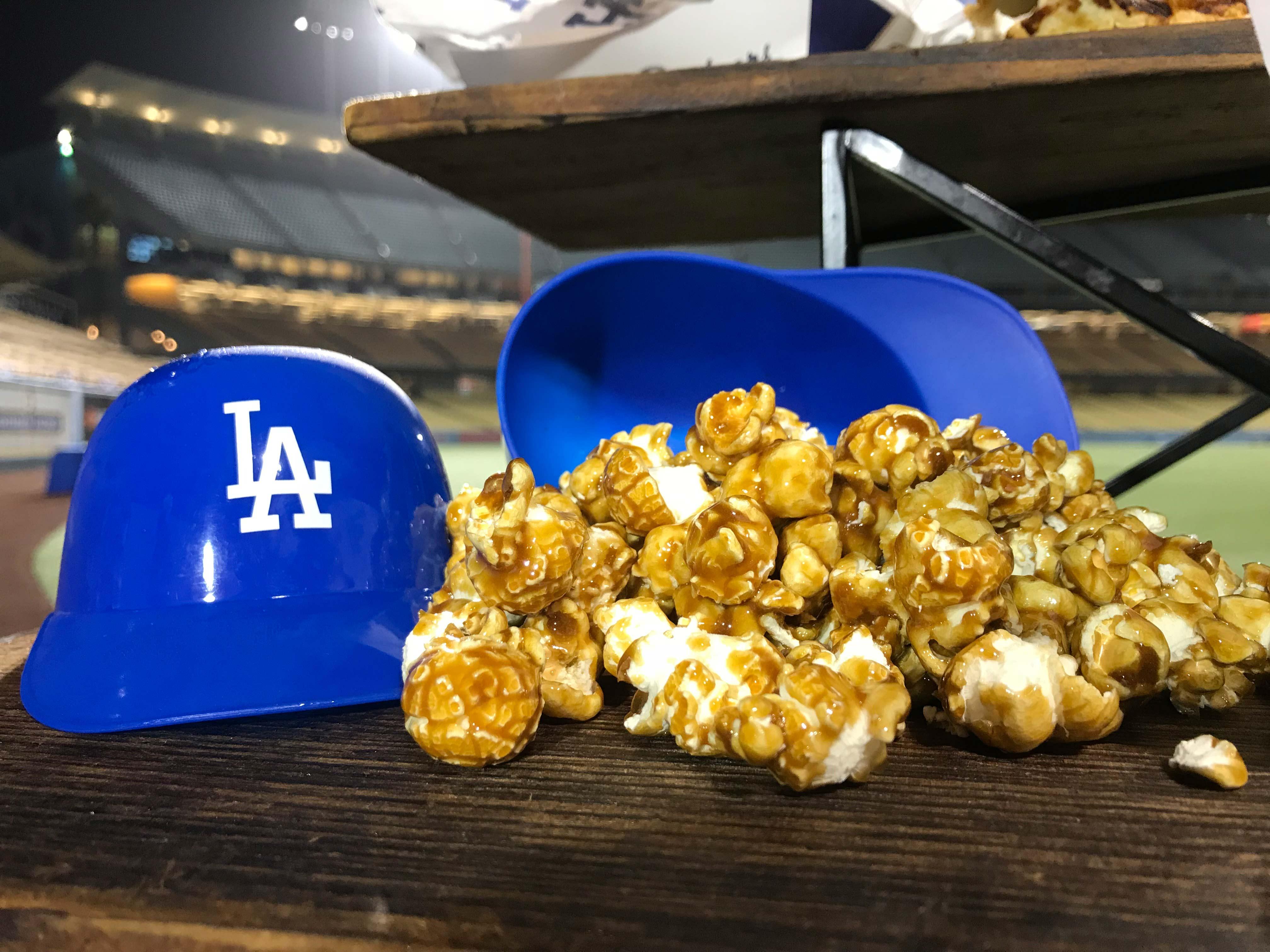 <div class='meta'><div class='origin-logo' data-origin='none'></div><span class='caption-text' data-credit='KABC'>Try out some popcorn on your next visit to Dodger Stadium.</span></div>