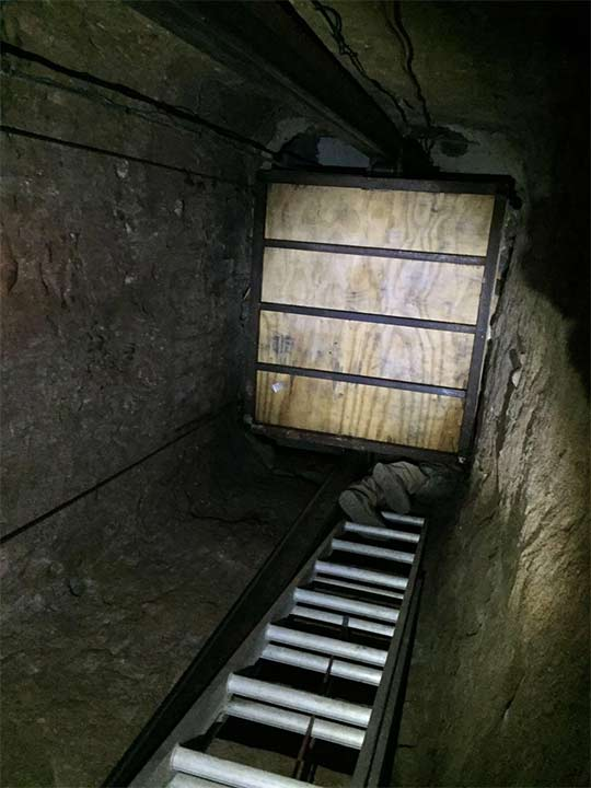 "<div class=""meta image-caption""><div class=""origin-logo origin-image none""><span>none</span></div><span class=""caption-text"">A large, commercial-grade elevator was found inside the tunnel. It led to a closet inside a home in Tijuana. (United States Department of Justice)</span></div>"