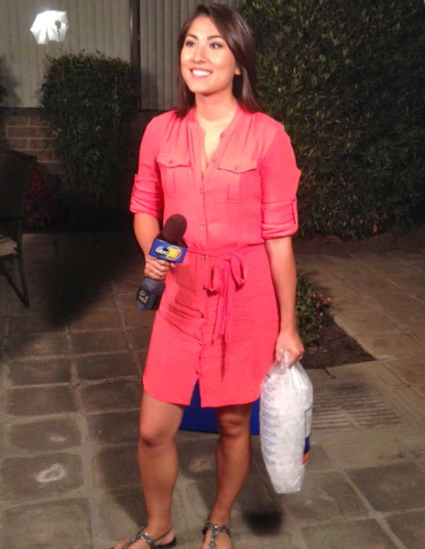 Video action news reporter veronica miracle accepts ice bucket