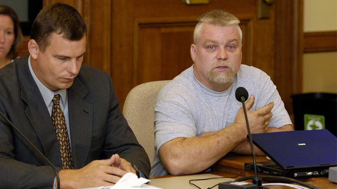 This image released by Netflix shows Steven Avery, right, in the Netflix original documentary series Making A Murderer.