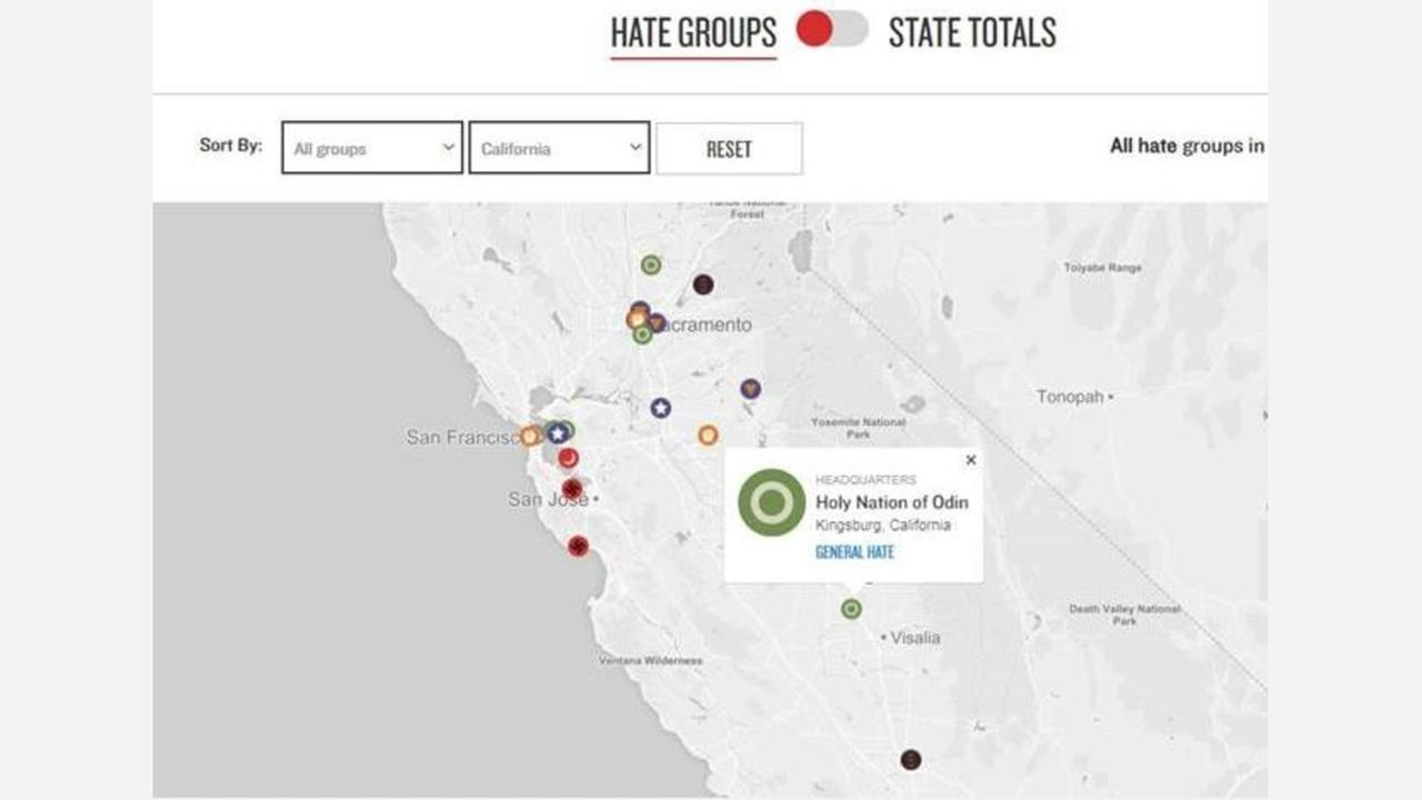 California has most hate groups in the nation