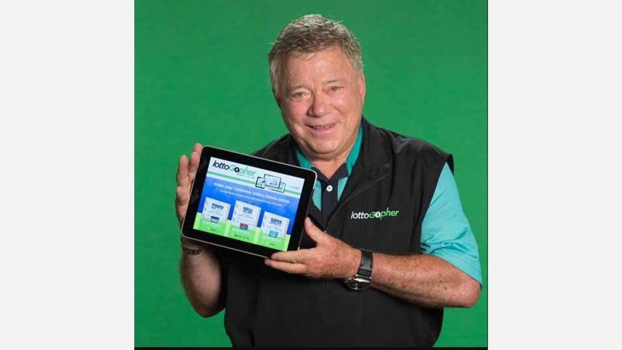 California Lottery aware of private companies offering online way to buy tickets, William Shatner now spokesperson
