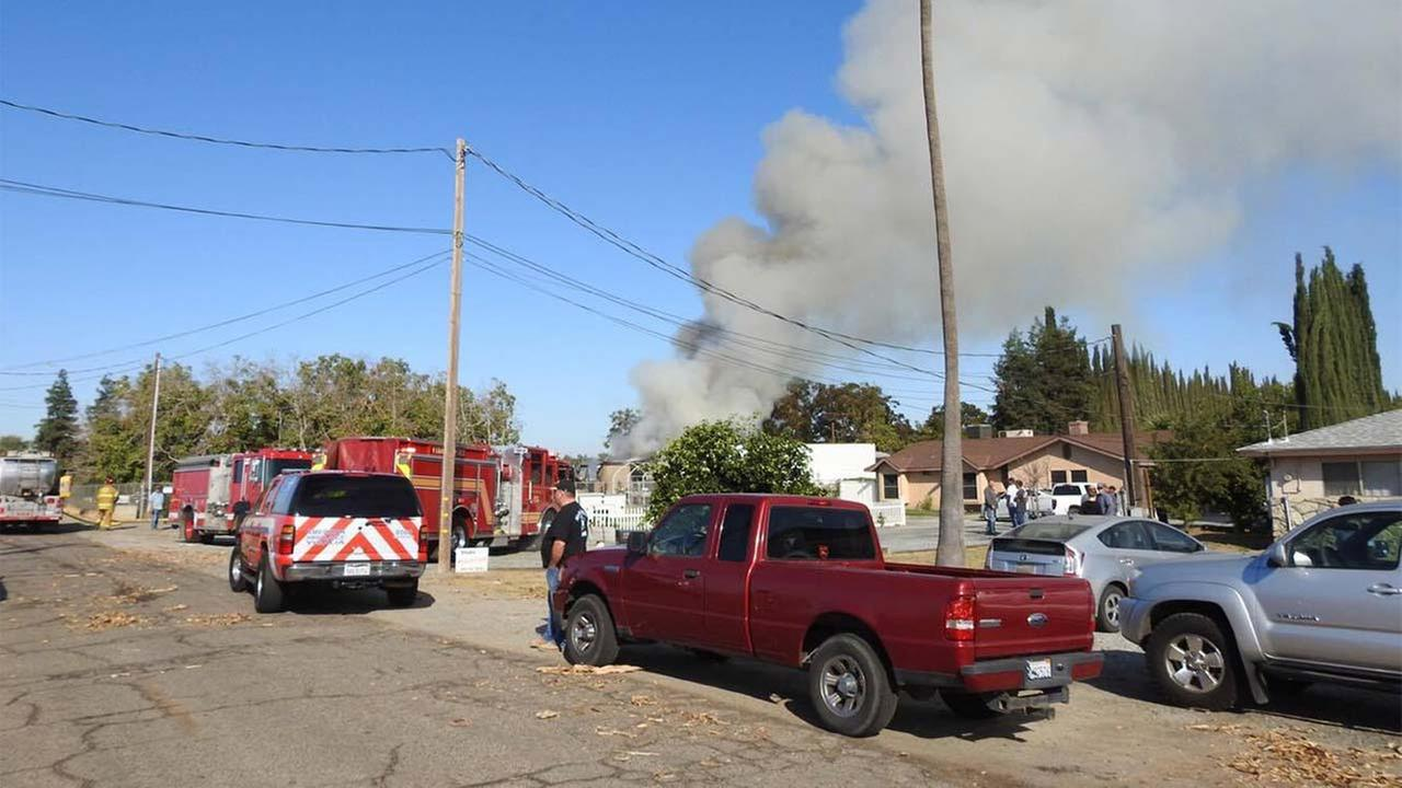 Neighbors reported a loud explosion near Mooney Boulevard and Pacific Avenue just after 9 a.m.