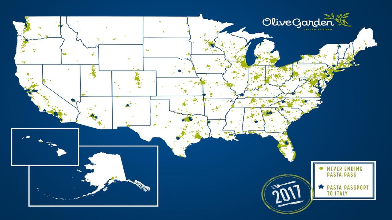 Olive Garden is a California phenomenon, and now we have the map to prove it