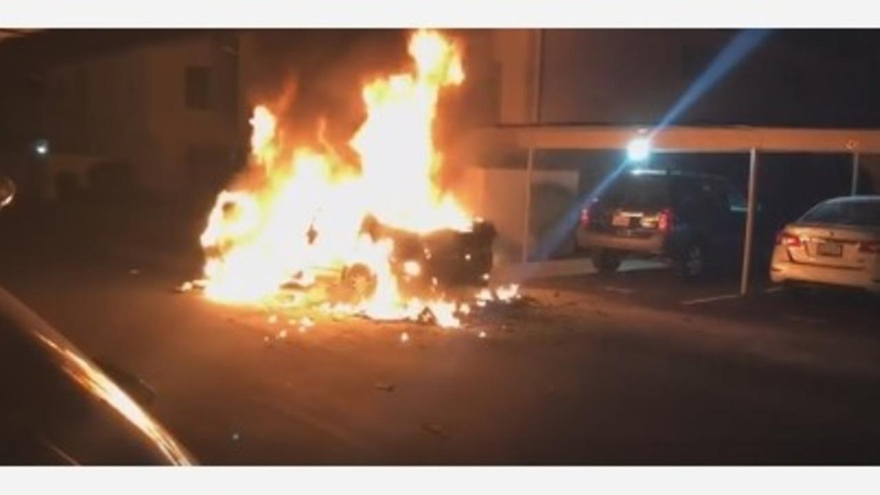 VIDEO: Madera car owner complained of electrical problems, then his car caught fire