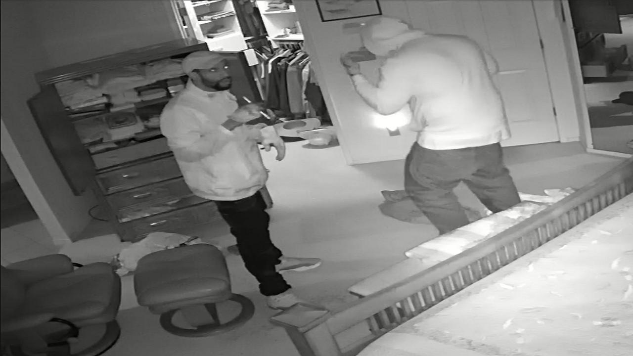 Home surveillance camera catches two Clovis burglars in the act