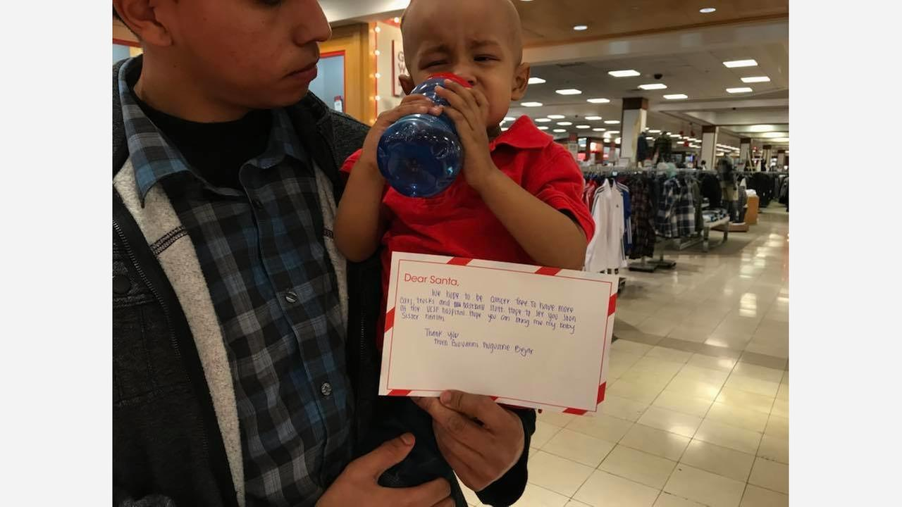 Fresno family asks Santa for son to be cancer free