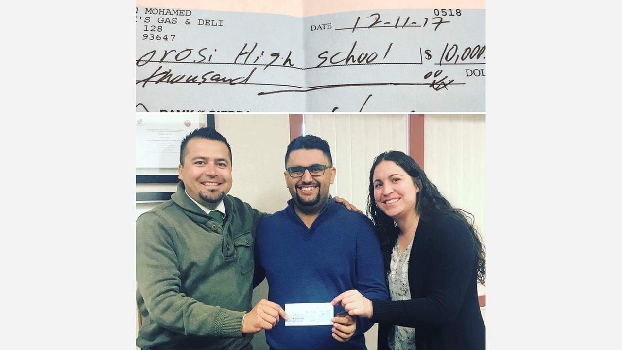 Cutler man writes $10,000 surprise check to Orosi High School