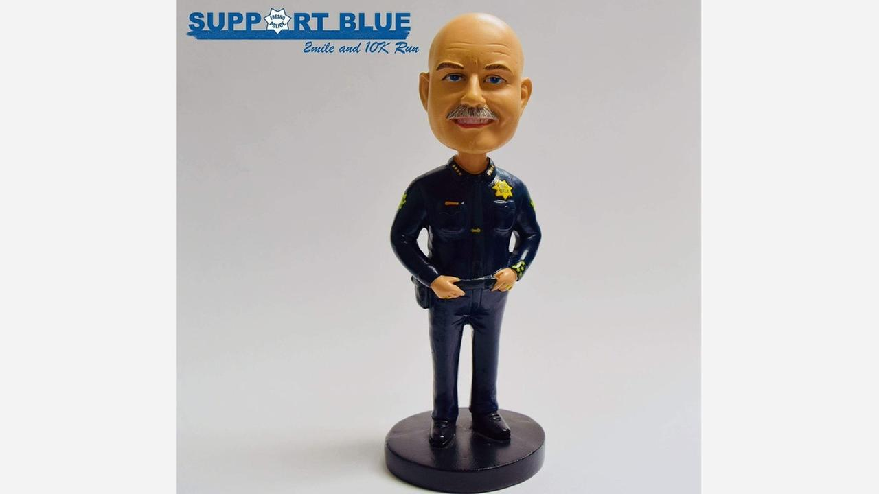 Fresno Police Chief Jerry Dyer bobblehead could be yours, if you can run