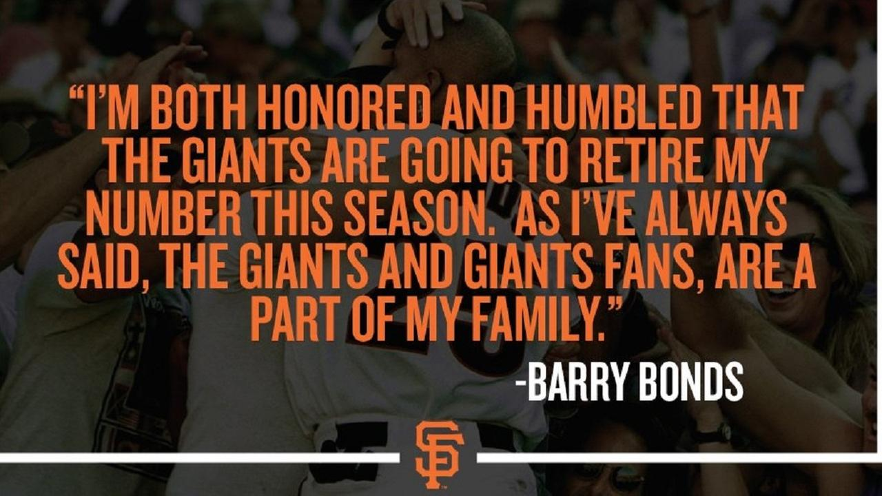 SF Giants make it official, Barry Bonds will have his jersey number retired