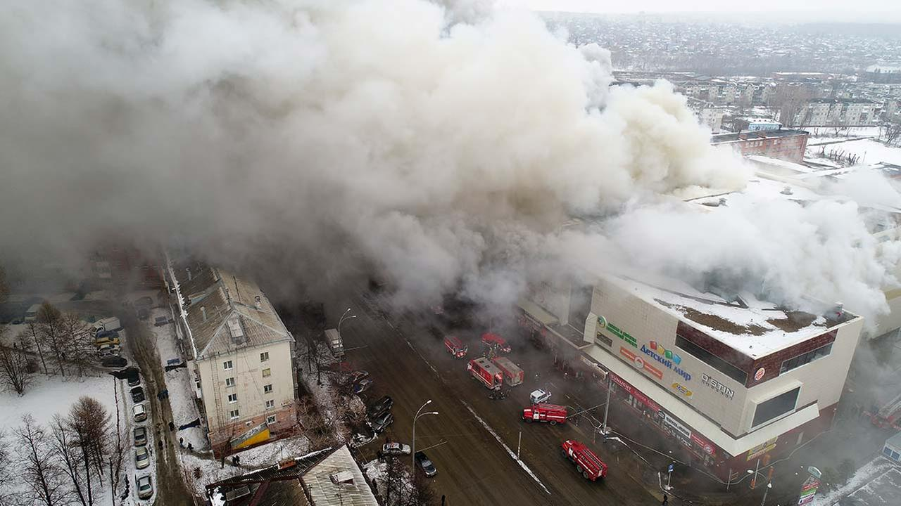 64 dead in Russian Federation shopping mall fire (Third Lead)