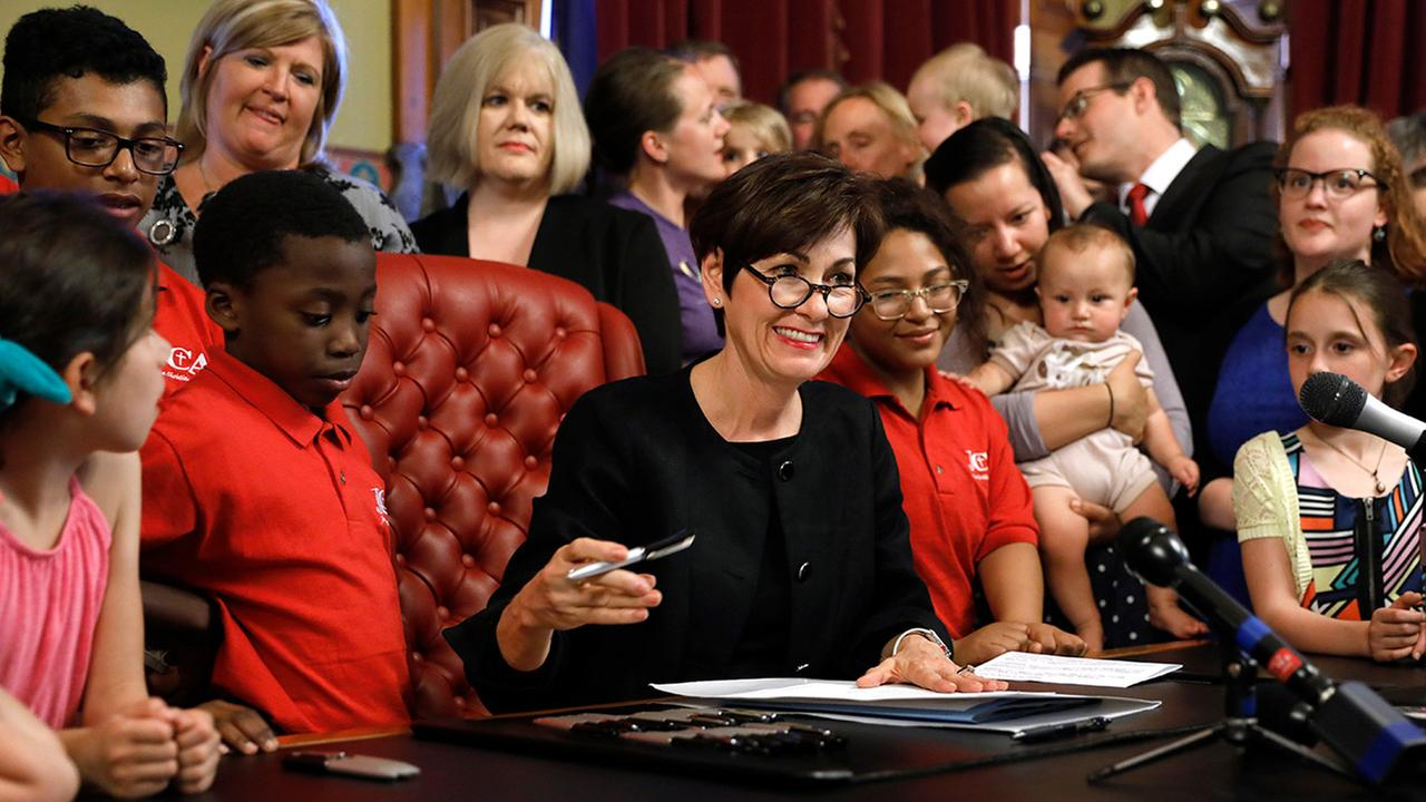Iowa governor signs strictest abortion regulation in US