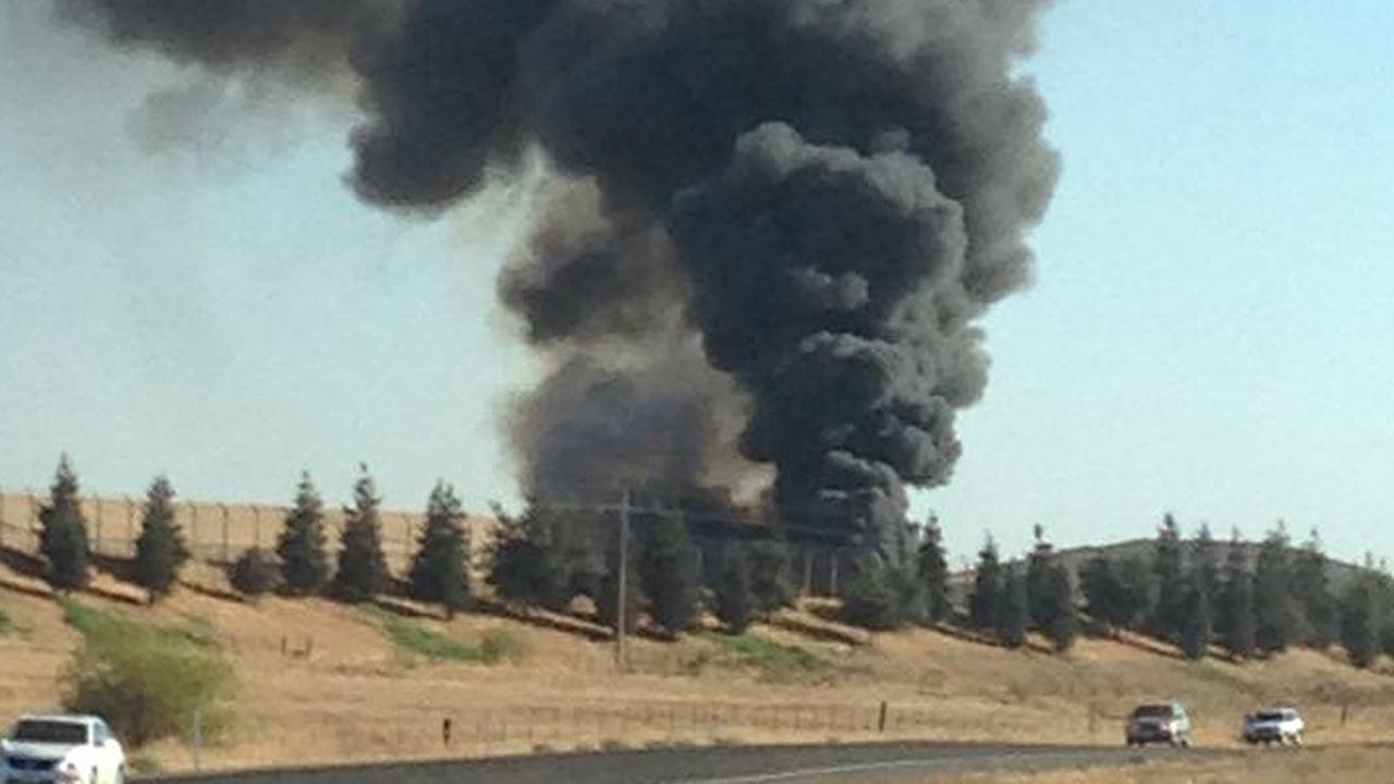 Fire burning at Merced County landfill
